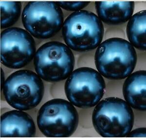 200 pcs beautiful Glass pearls Czech republic interval beads Dark blue 4 mm