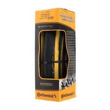 New 2018 Continental Ultra Sport II Black/Yellow 700x23C Folding Clincher Tire