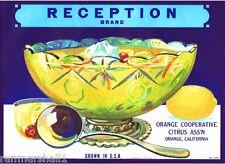 Orange County Reception Lemonade Punch Lemon Citrus Fruit Crate Label Art Print