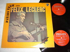 FELIX LECLERC Pleins Feux Sur... 2-LP SET Best of Quebecois French VG+/VG+/NM