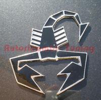 STEMMA SCORPIONE NERO ABARTH METALLO 60x70 mm A081N