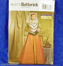 Butterick Costume 4375 Renaissance Jacket, Skirt, 6-12