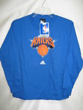 New York Knicks Youth Adidas Long Sleeve T-Shirt Blue Large 14/16 *