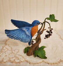 Vintage Danbury Mint Bluebird Figurine Sculpture By Bob Guge Season's Bounty.