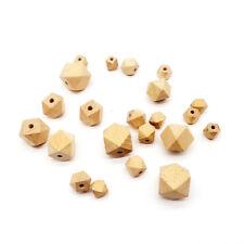 Natural Beech Wooden Hexagon Bead Geometric European Beech DIY Baby Jewelry Toys