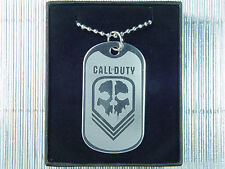 Call of Duty Ghosts Skull Mask Military Dog Tag Necklace