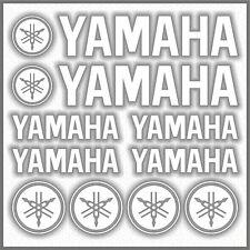 10x YAMAHA White STICKERS TMAX Super Tenere XT 660Z 1200Z FZ-S FZ MT XSR TDM
