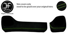 GREEN STITCH TWO PIECE DASH KIT TRIM SUEDE COVERS FOR TOYOTA AYGO 2014-2019