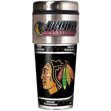 Chicago Blackhawks NHL Stainless Steel 16oz Travel Tumbler Mug with Emblem