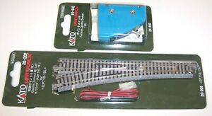 Kato N Gauge Unitrack L/H Electric Point Turnout 20-202 & Control Switch 24-840