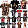 Women Men Hip Hop Raper 2PAC Tupac Amaru Shakur Casual 3D T-Shirt Short Sleeve