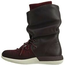 WMNS Nike Roshe Two Hi Flyknit 2 Deep Burgundy Women Boot Sneakerboot 861708-600 UK 3.5