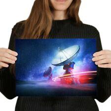 A4 - Radio Telescope Space Aliens NASA Poster 29.7X21cm280gsm #8216
