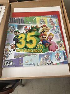 Super Mario Bros 35th Anniversary Store Display plastic poster (RARE)24x24