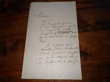 1866.Lettre  autographe.Parnasse.Alphonse Lemerre