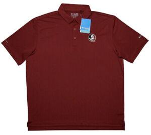 COLUMBIA GOLF Florida State Seminoles FSU Polo Shirt Garnet Red XXL 2XL ~ New