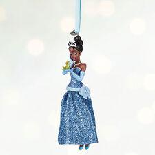 Disney Store Tiana w/ Naveen Princess & the Frog Christmas Ornament Figure Nwt