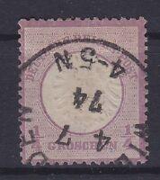 Brustschild Mi Nr. 16, geprüft Sommer BPP, mit K1 04.07.1874 gest., Dt. Reich