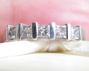 Genuine 0.50ct Diamond Eternity Ring 9K Yellow Gold