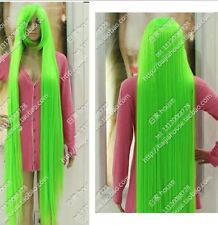 Fashion Wig 150cm 60 inch Light Green Long Straight Hair Coaplay Party wig NEW