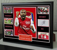 THIERRY HENRY SIGNED FRAMED TRIBUTE