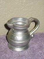 Wilton Armetale RWP Vintage Aluminum Metal Miniature Cream Creamer Made in USA
