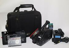 JVC Compact VHS Camcorder GR-AX7 VIDEOMOVIE 6x Power Zoom w/ Case & Accessories