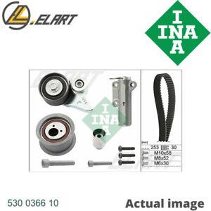 TIMING BELT SET FOR AUDI VW A8 4E BFM BFL TOUAREG 7LA 7L6 7L7 AXQ BHX BGH INA