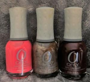 Lot of 3~Orly Nail Lacquer~Terracotta, Buried Treassure, Bus Stop Crimson~ New