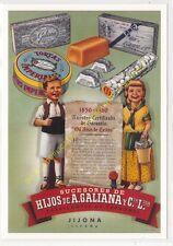Reproducción antigua publicidad HIJOS DE A. GALIANA