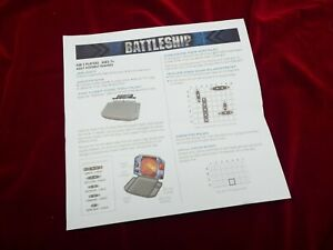 Battleship Travel Edition Instruction Booklet