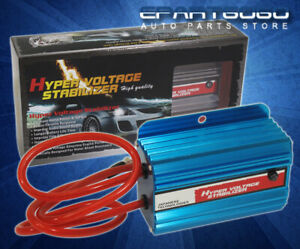 Blue Jdm Hyper Car Battery Voltage Stabilizer Ecu For Toyota Paseo Corolla Supra