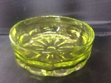 Art Deco Green Hand Blown Glass