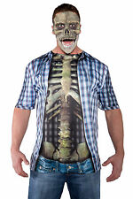 Skeleton Shirt Walking Dead Bloody Gory Mens Adult Halloween Costume Accessory