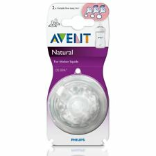 2 x Philips Avent Natural Baby Bottle Teats 3m+ Variable Flow BPA Free SCF655/27