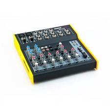 Mixer MX102 Master Audio compatto a 8 canali, 2 mono e 6 stereo, alimentazione +