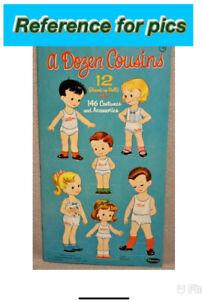 1960 A DOZEN COUSINS Paper Dolls  - WHITMAN - MYERS - RARE