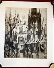 Grafik,Radierung,handsigniert,Maricka Klimovicova,Prag,Altstadt