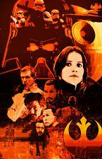 Rogue One Darth Vader Jyn Urso K-2SO Star Wars 11 x 17 High Quality Poster