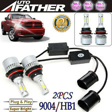 2x 9004 HB1 LED Headlight Kit for Dodge RAM 1500 2500 3500 1994-2001 Hi Low Beam