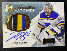 Jake Allen 14-15 The Cup Signature Patches Autograph S/N 53/99 Blues