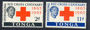 TONGA 1963 RED CROSS CENTENARY SG141/142  MNH