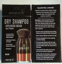 Ambiance Dry Shampoo Applicator Brush- Red. All Natural Dry Shampoo!