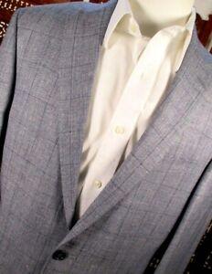NWT Jos A Bank Men Sz: 40XL Blue Linen Silk Tailored Fit Tropical Sportcoat $510