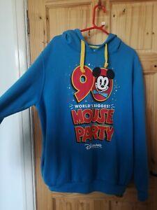 Disneyland Paris hoodie Disney Mickey Mouse Party Blue Yellow XXL