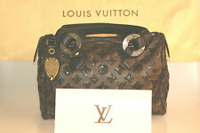 LOUIS VUITTON Monogram ECLIPSE Pailletten SPEEDY 28 Noir Tasche RECHNUNG Bag TOP