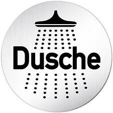 "Aluminium Schild 10 cm Ø ""Dusche"" • Türschild • Tür • WC • Toilette • Alu • Wand"
