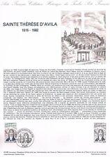 Document Officiel   1982 43   Sainte Therese D'Avila  Yv N° 2249