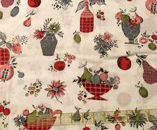 Vtg 60s kitchen cotton fabric PINK GREY retro MOD lighweight BTHY half yard