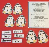 Six Little Penguins - FLANNEL FELT BOARD LAMINATED STORY and PIECES